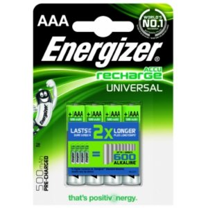 Energizer Universal HR 03 Akku Ready to Use 4er Blister