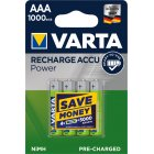 Varta Power Akku Ready2Use Micro AAA HR03 LR03 4er Blister 1000mAh
