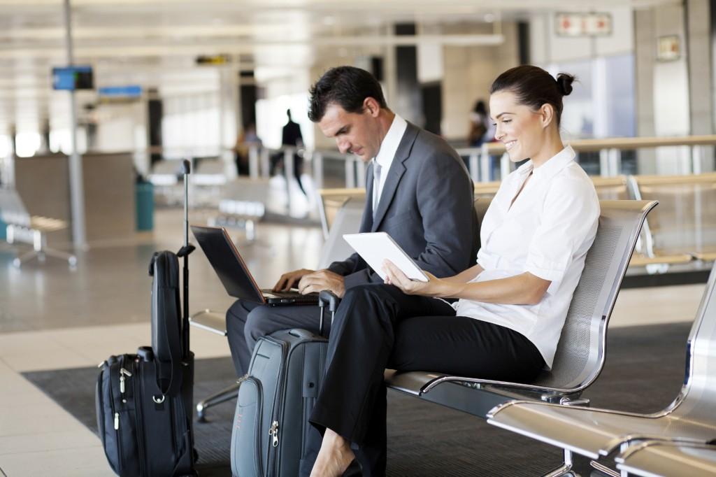 Laptop Flughafen